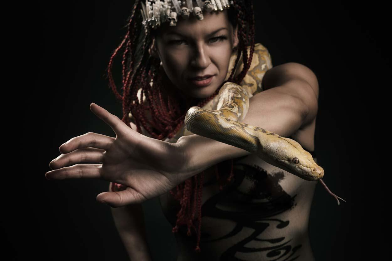 Reyna de las serpientes by Guillermo Hernández Mendoza