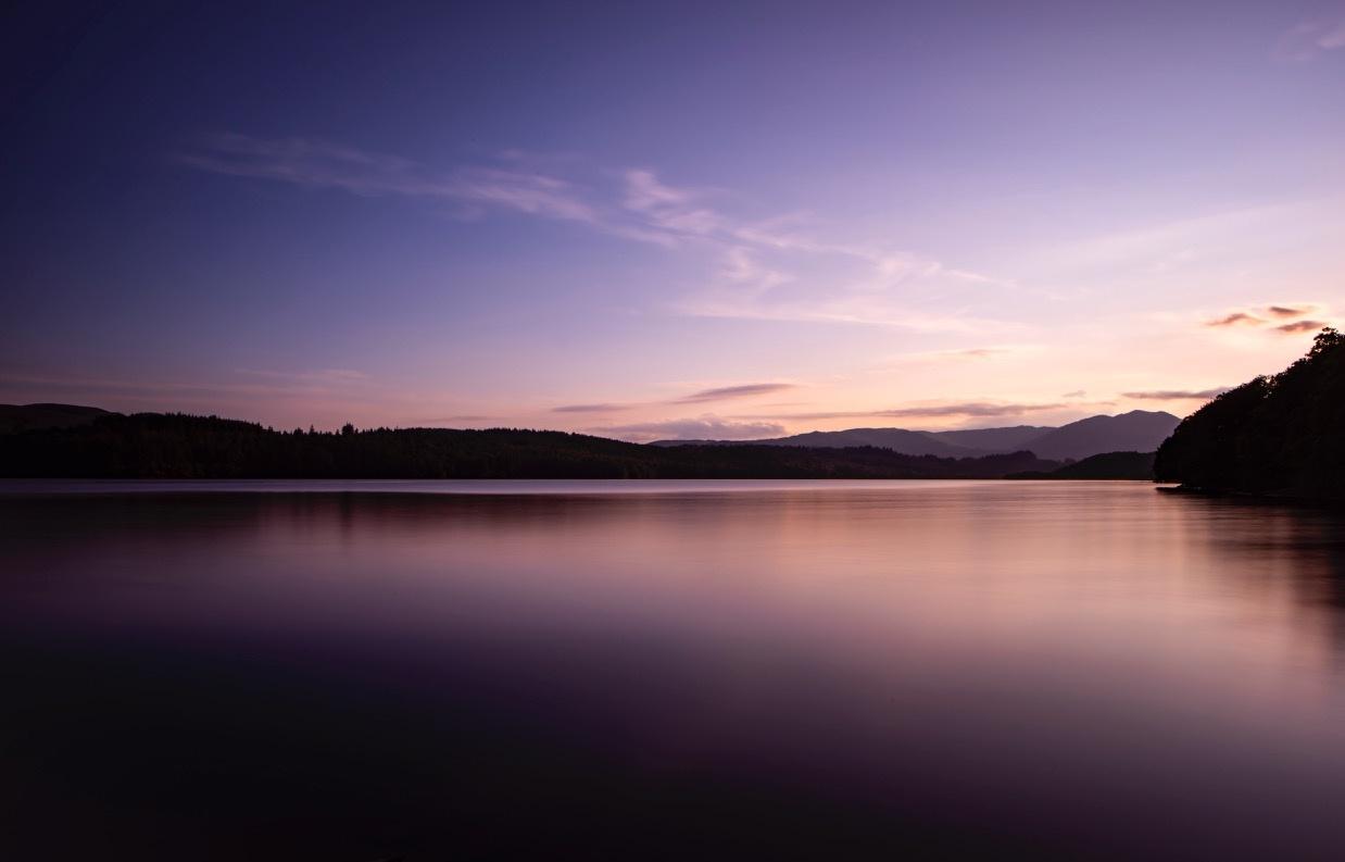 Loch Venachar long exposure sunset by David Mitchell