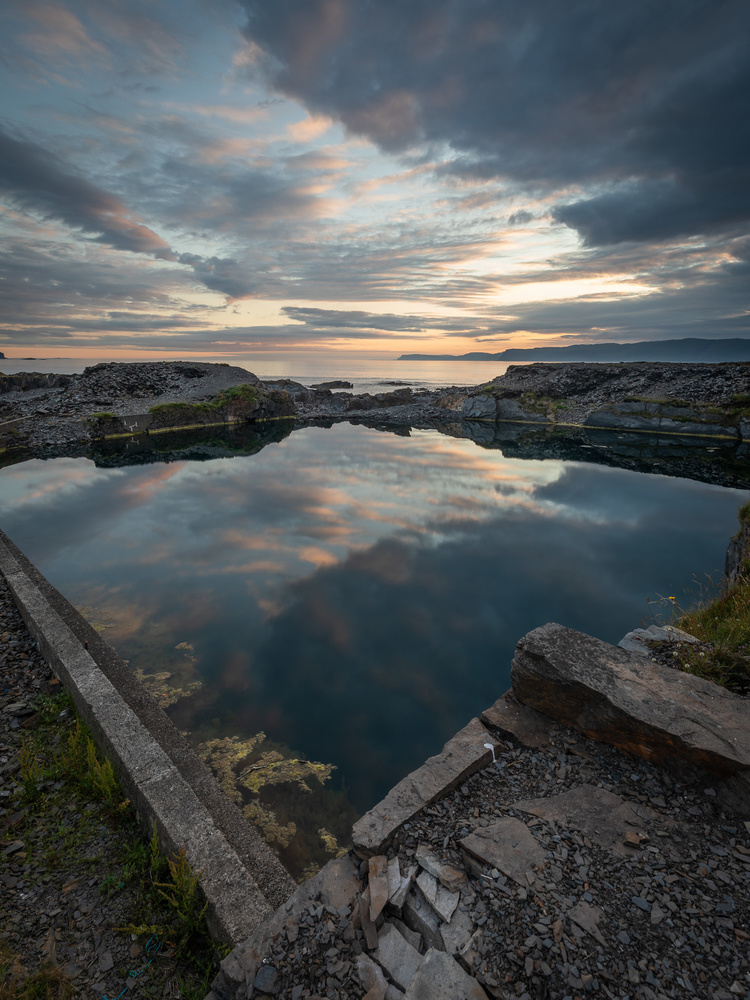 Back shore quarry by Peter Crawford