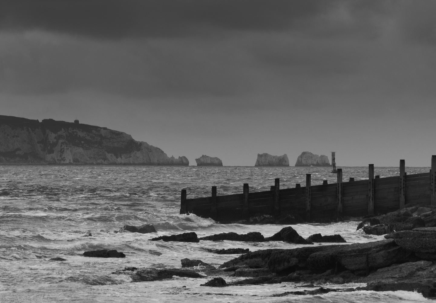 The Needles, Isle of Wight, England's South coast by Mike Young