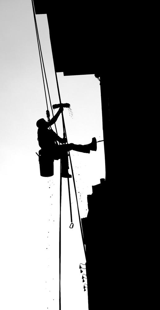 Man at work by Matthew Teetshorn