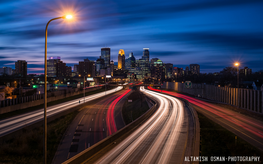 Minneapolis Long Exposure by Altamish Osman