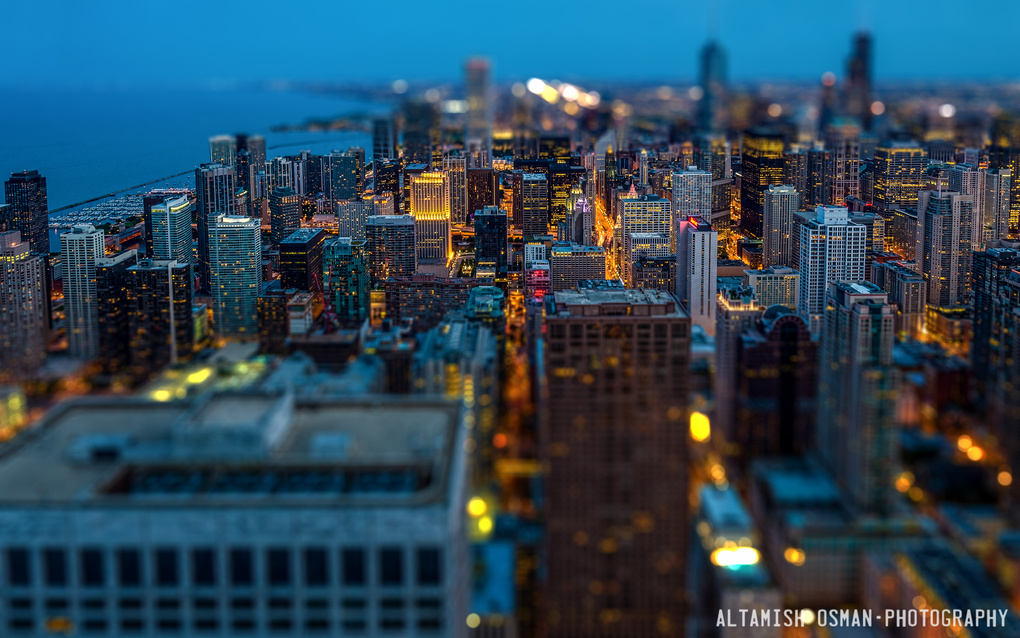 Chicago Tilt-Shift by Altamish Osman