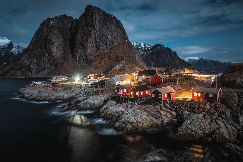 Red Cabins of Lofoten by Calum Kozma