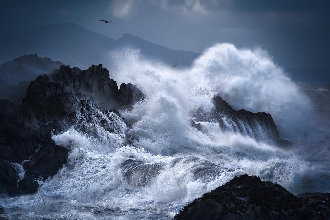 Stormy Seas in Wales, UK by Neil Tapman