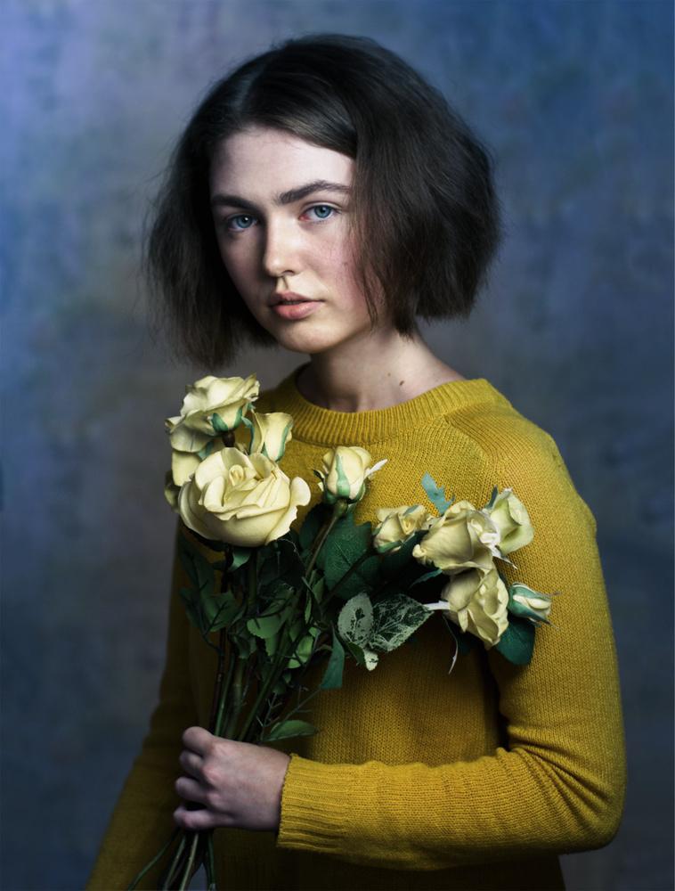Yellow roses by Valentyn Kolesnyk