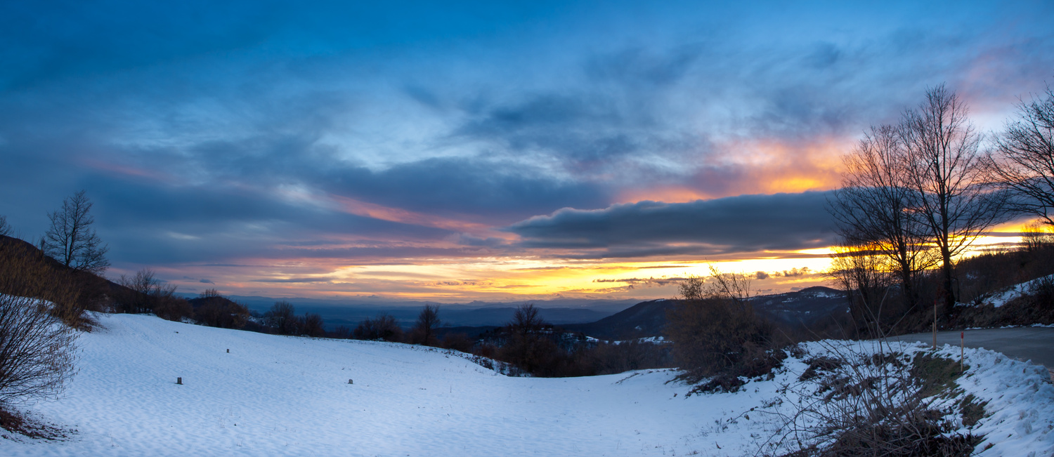 winter sunset by Tihomir Dubic