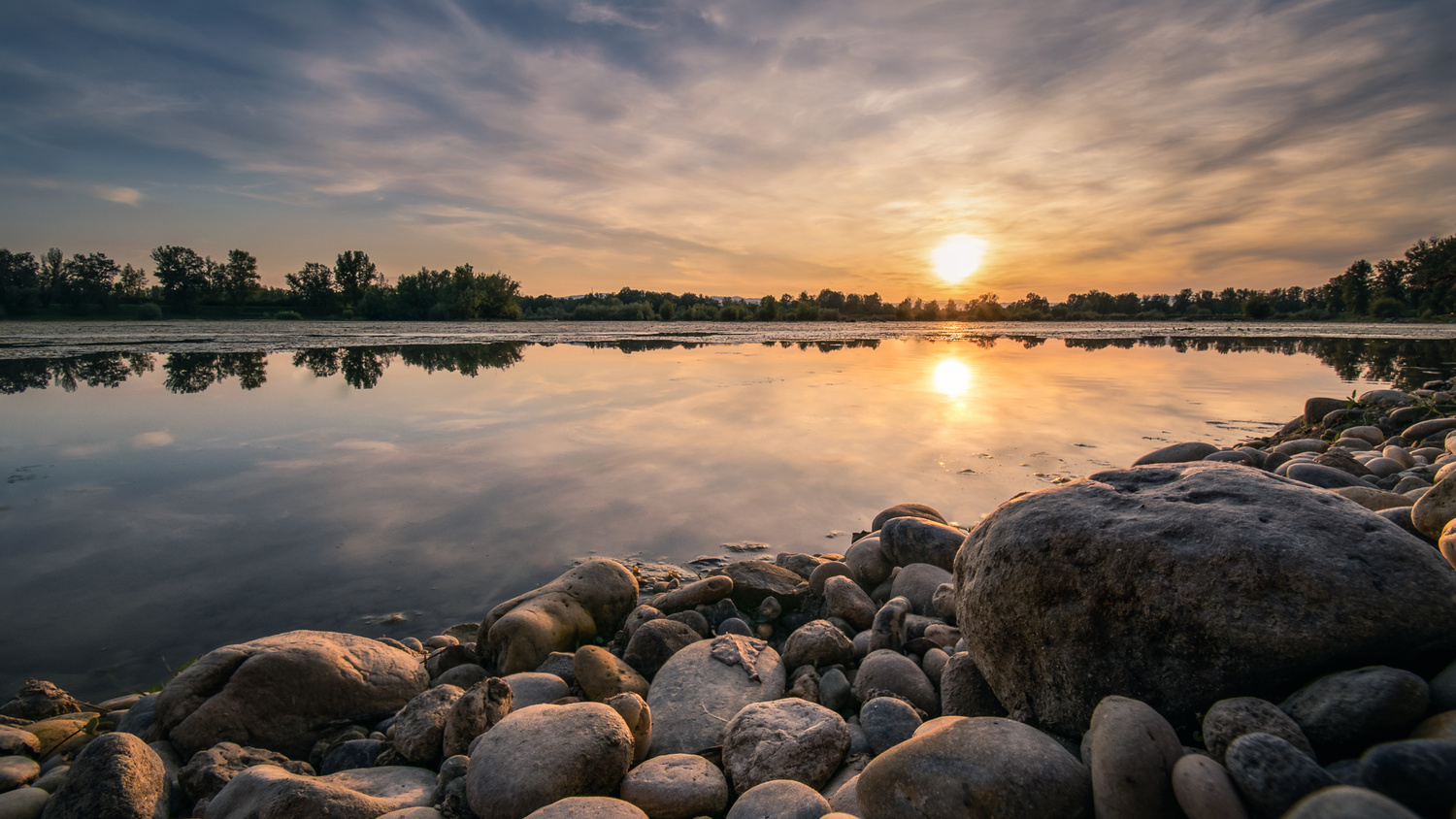 Sunset at lake Oresje by Tihomir Dubic