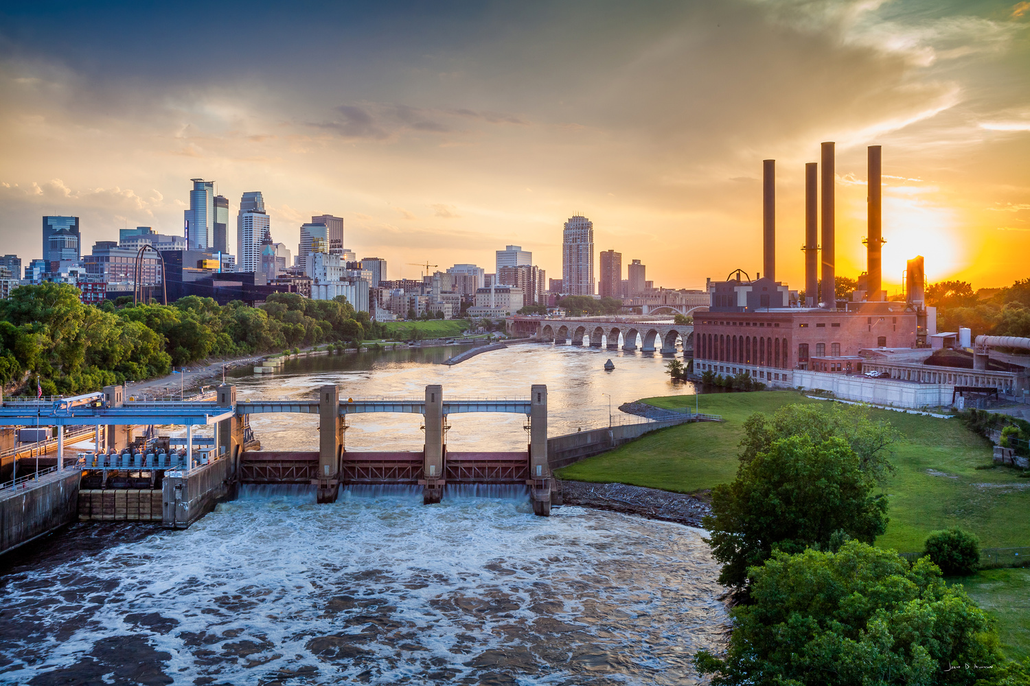 Minneapolis Cityscape by Jakob Anderson