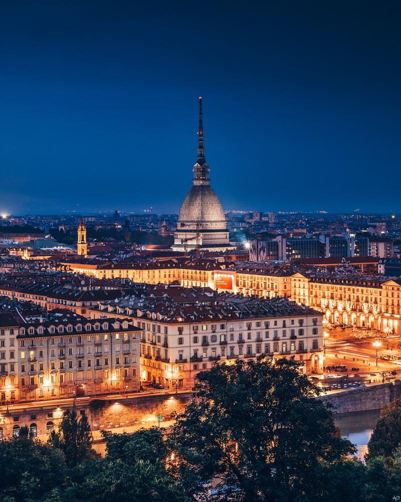 Panoramic View from Monte dei Cappuccini, Turin, Italy by Nickolas Koursioumpas