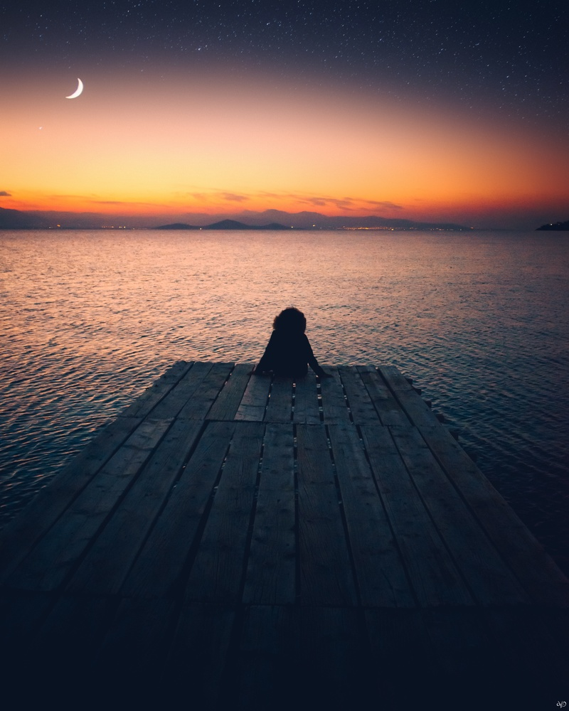 Girl in Silhouette, Greece by Nickolas Koursioumpas