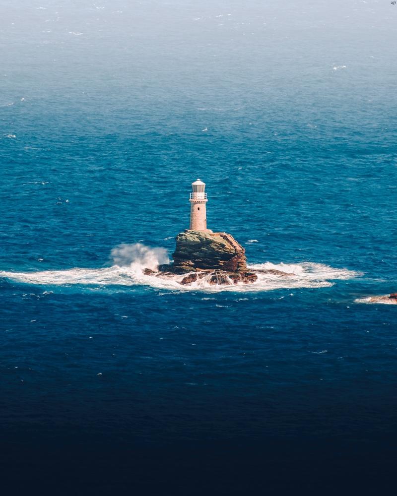 Tourlitis, Lighthouse, Greece by Nickolas Koursioumpas