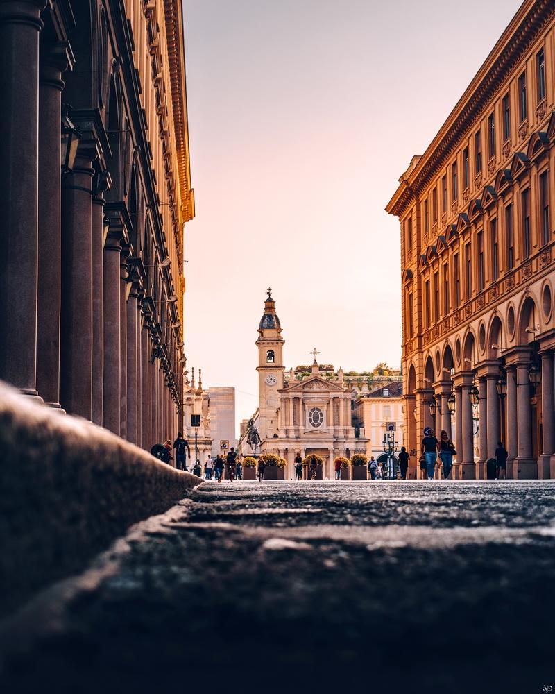 Via Roma, Turin, Italy by Nickolas Koursioumpas