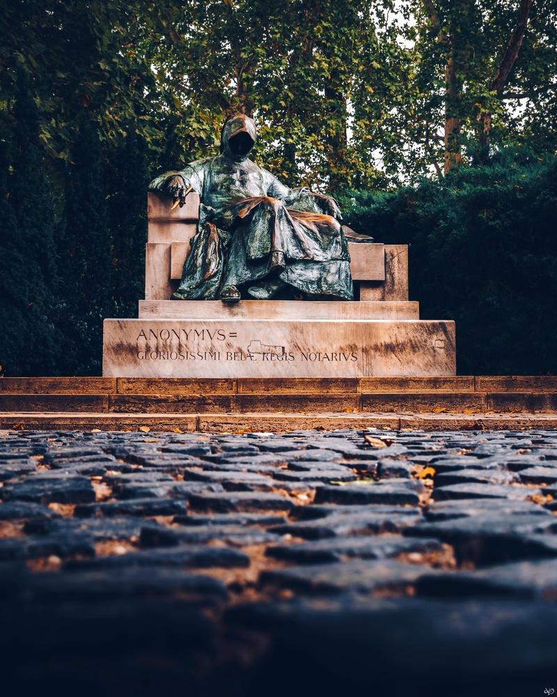 Anonymous Statue, Budapest, Hungary by Nickolas Koursioumpas