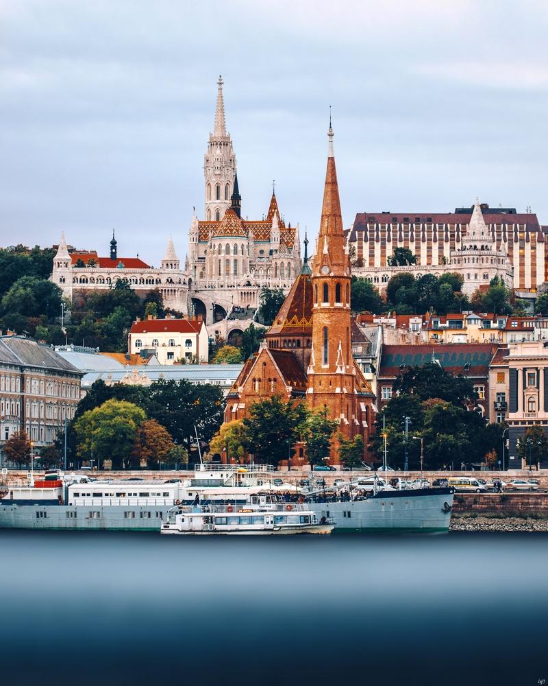 Budapest, Danube River by Nickolas Koursioumpas