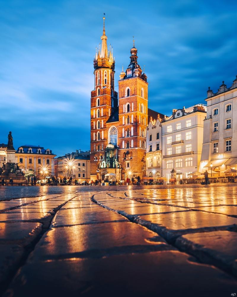 St. Mary's Basilica, Krakow, Poland by Nickolas Koursioumpas