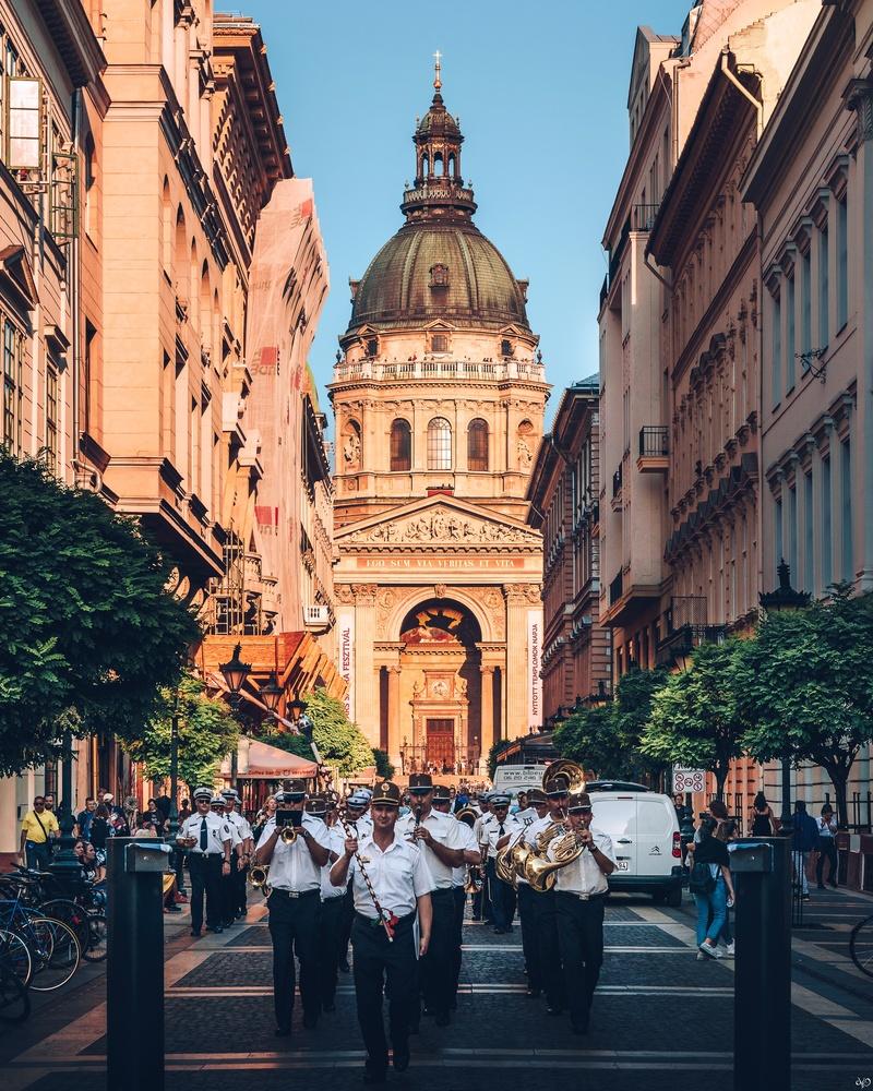 St. Stephan, Budapest, Hungary by Nickolas Koursioumpas