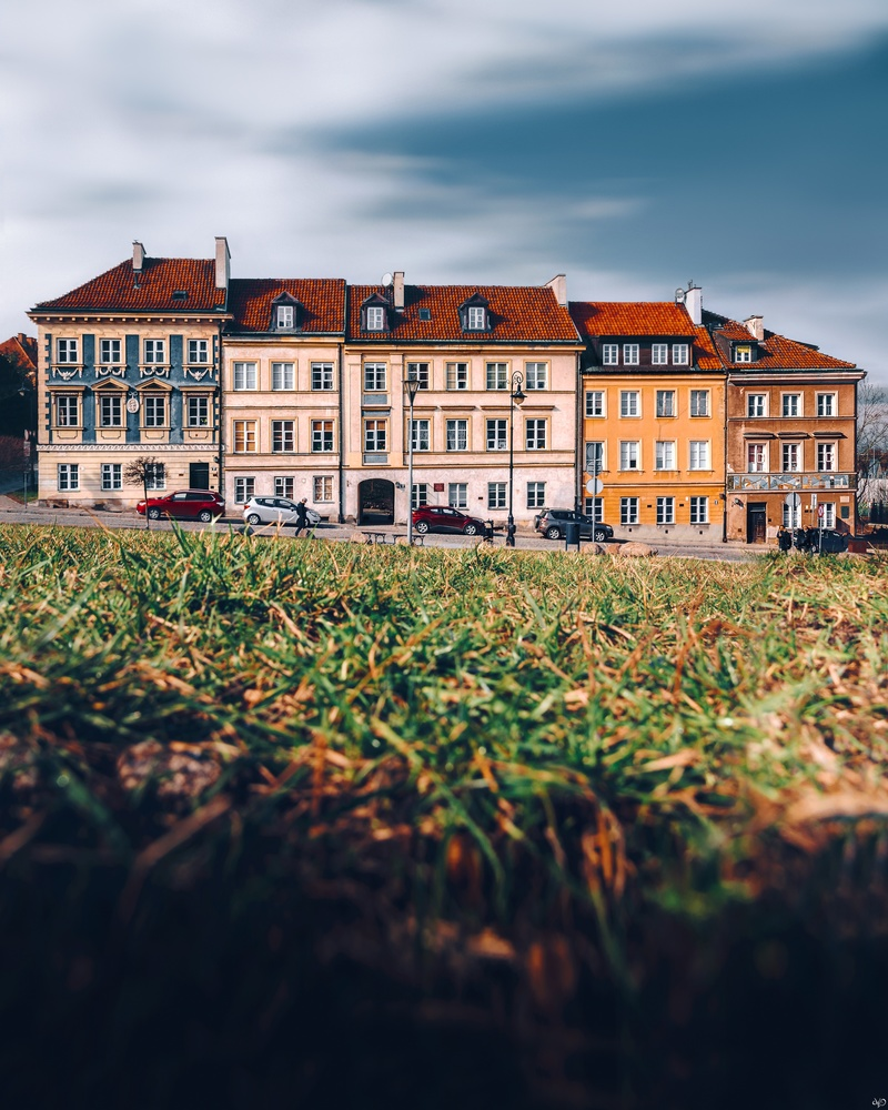 Tenements at Mostowa Street in Warsaw by Nickolas Koursioumpas