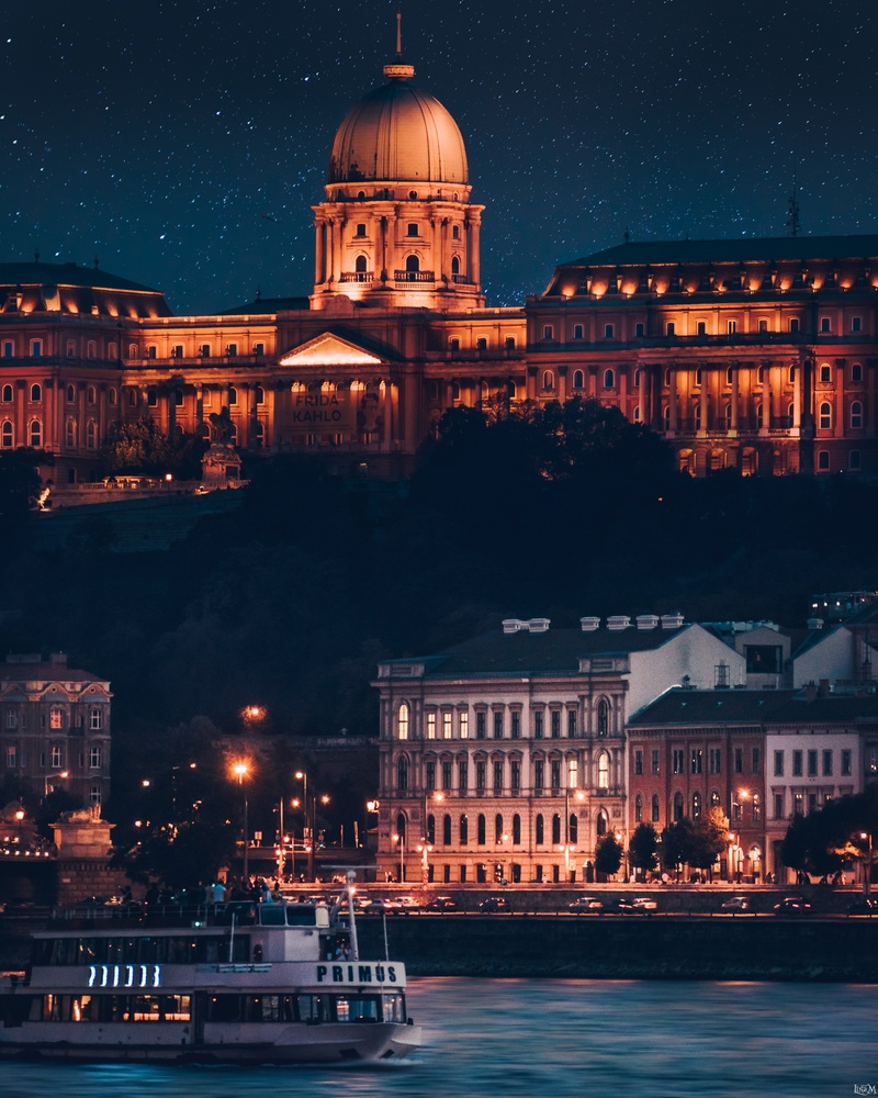 Buda Castle by Night by Lina Magoula
