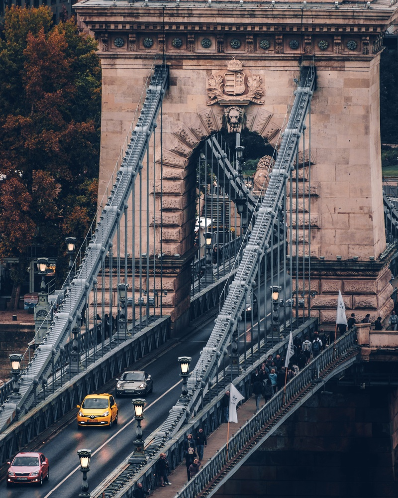 Chain Bridge in Budapest by Lina Magoula
