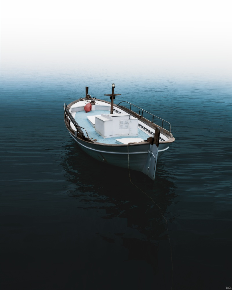 Boat Surrounded by Mist by Lina Magoula