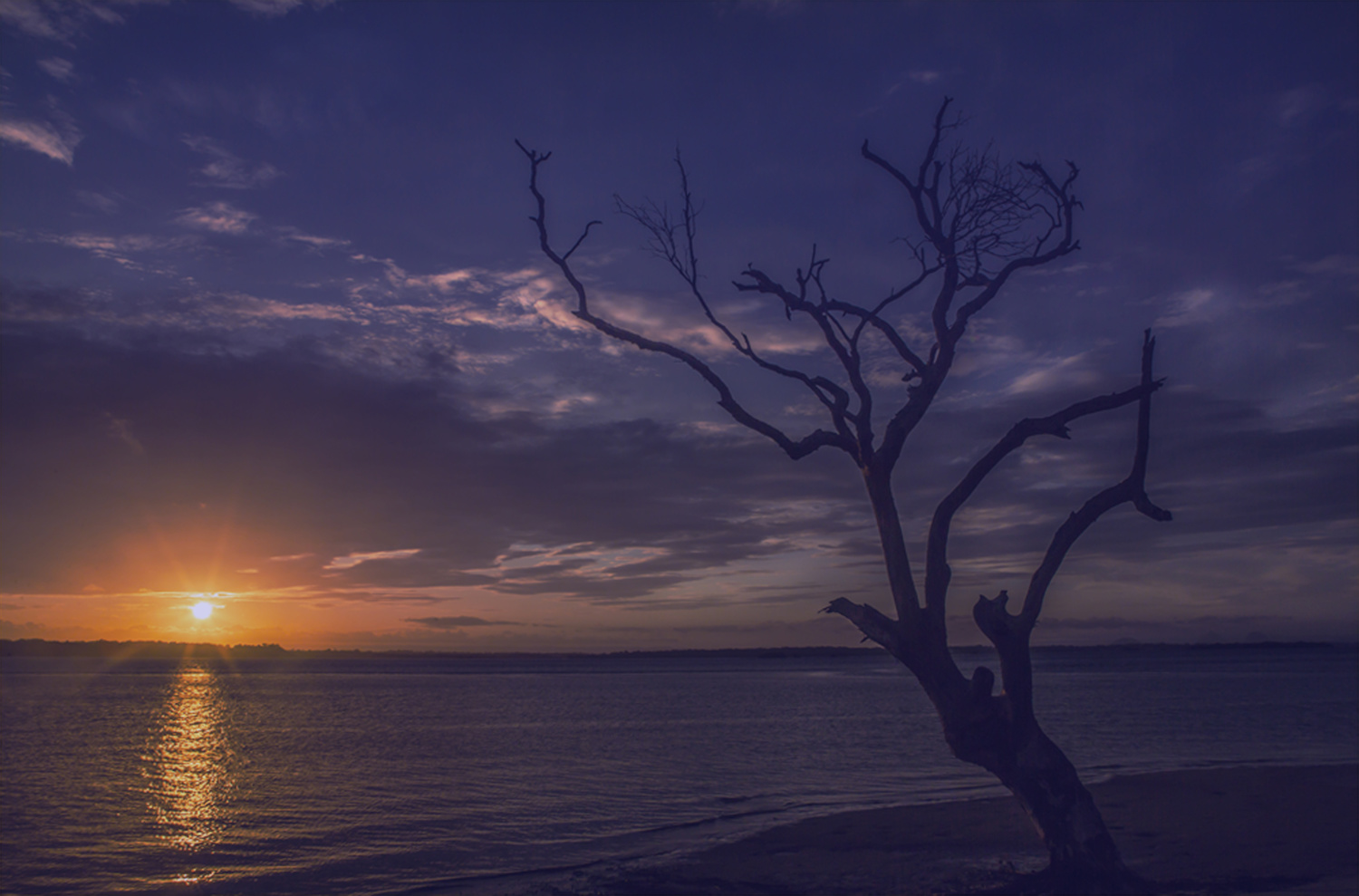 island sunset by Bruce Pryde