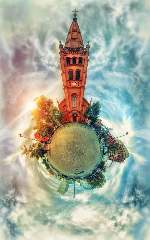 'Planet Apostelkirche Dusk' by Anton Tal