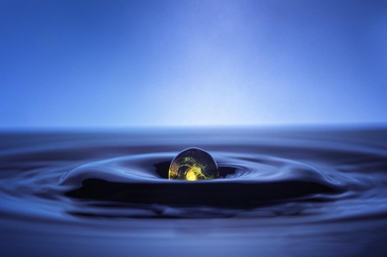 Yellow Orb by Mark Brueggenjohann