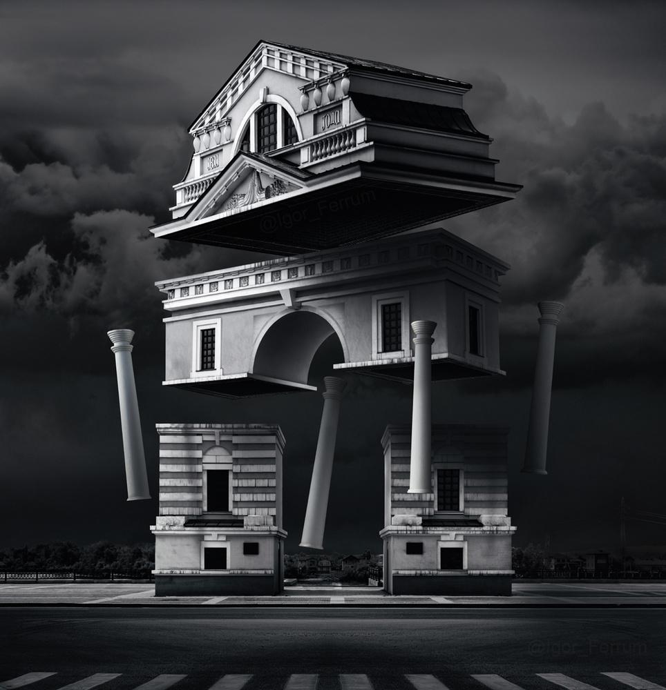 Moscow Triumphal gates by Igor Ferrum