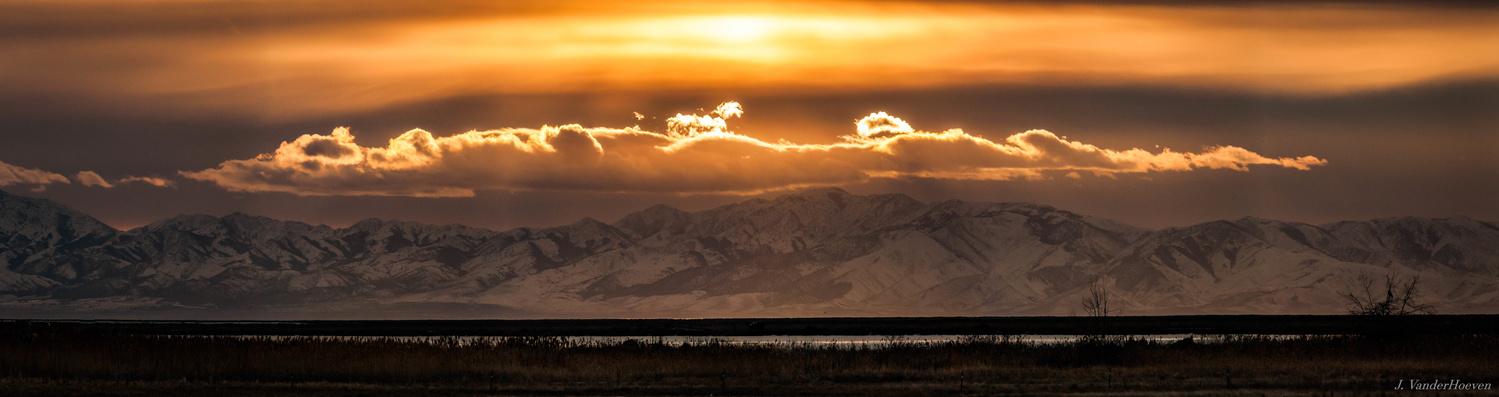 Mountain Halo Panoramic by Jake VanderHoeven