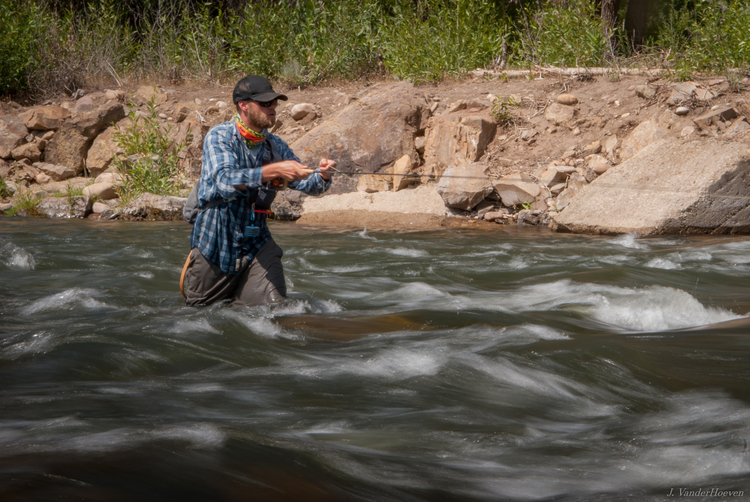 Fly Fishing the Provo River by Jake VanderHoeven