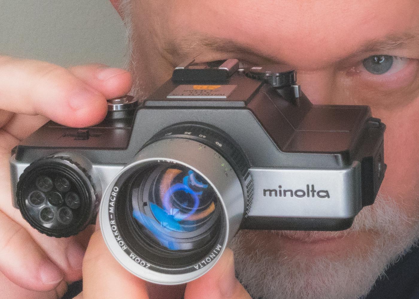 Minolta 110 Zoom SLR, the first SLR in 110 format. by Dan Stiel
