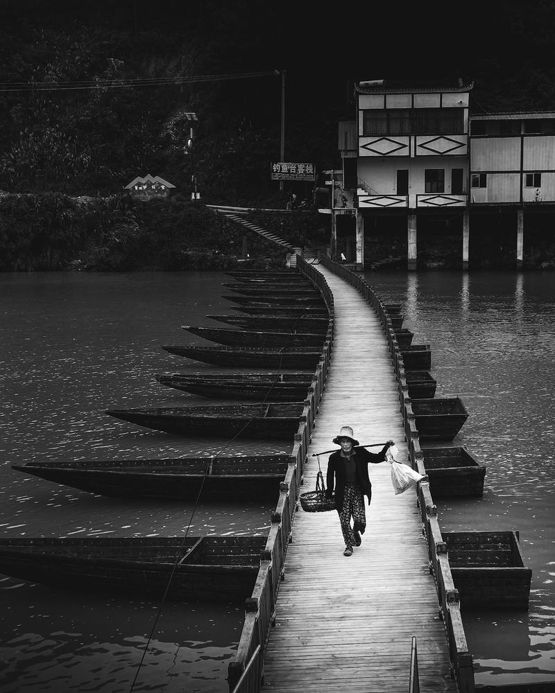 Floating Bridge of China by Scott Dance