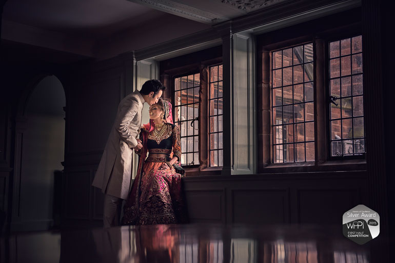 Bride and groom Portrait  | Asian Wedding in Cheshire by Jay Hoque