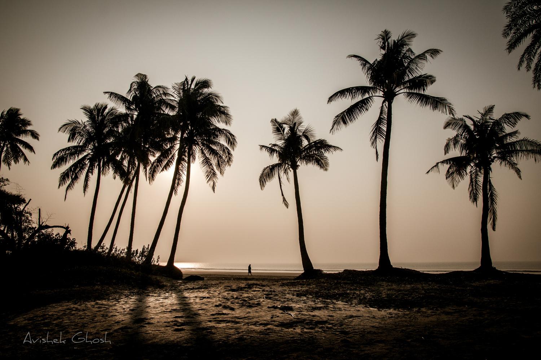 Melancholy beach by Avishek Ghosh