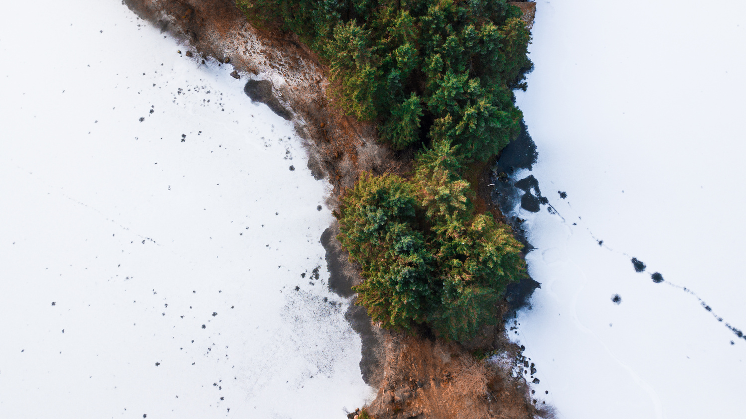 Top down photo of abstract nature by Peder Kongshaug