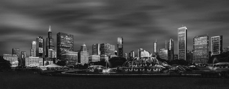Chicago downtown B&W by rami yazgi