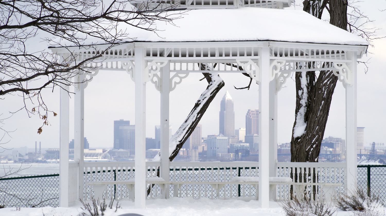 Gazebo in snow by Eric Kremer