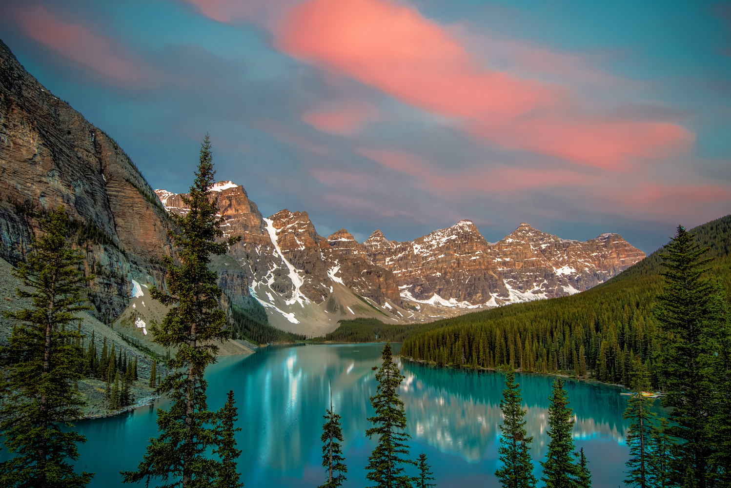 Moraine Lake Daybreak by Alex Hill