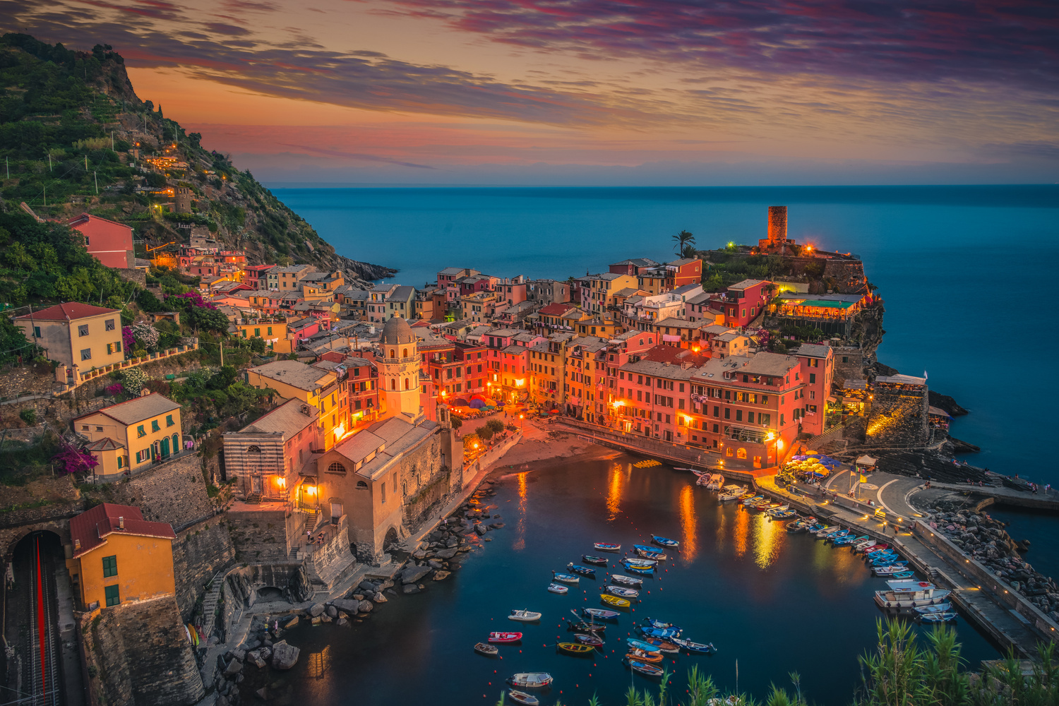 Vernazza Night by Alex Hill