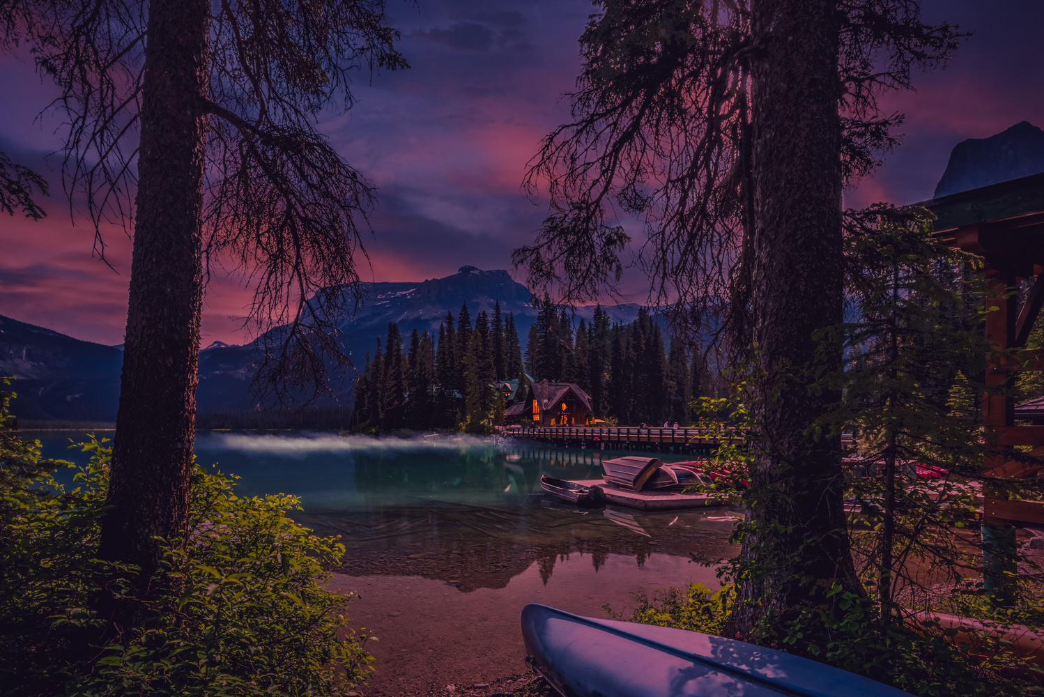 Emerald Lake Night by Alex Hill