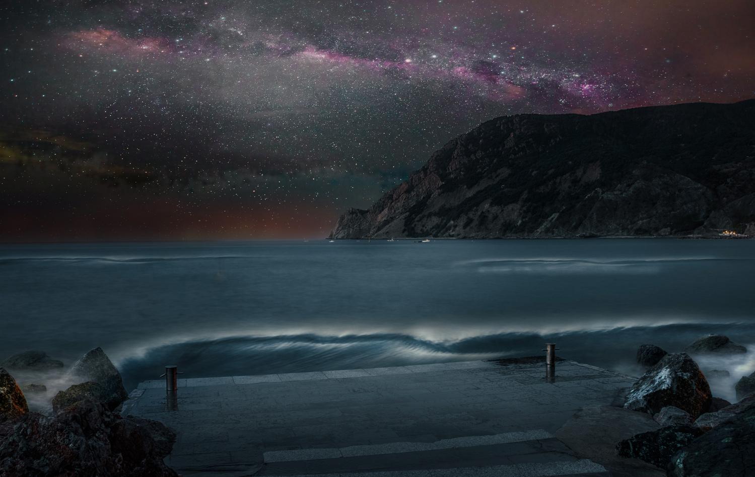 Cinque Terre Stars by Alex Hill