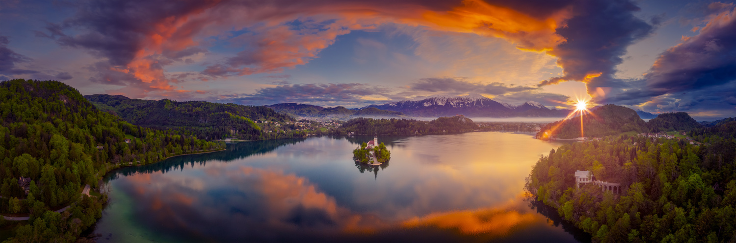Lake Bled Above by Alex Hill
