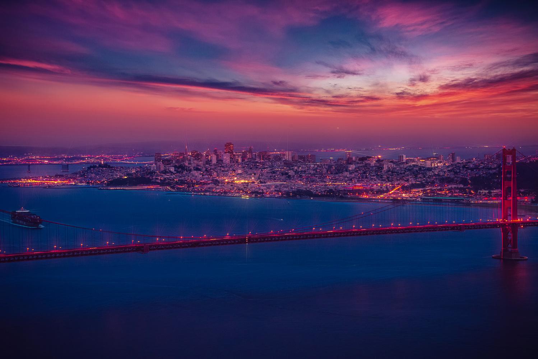San Francisco Night by Alex Hill