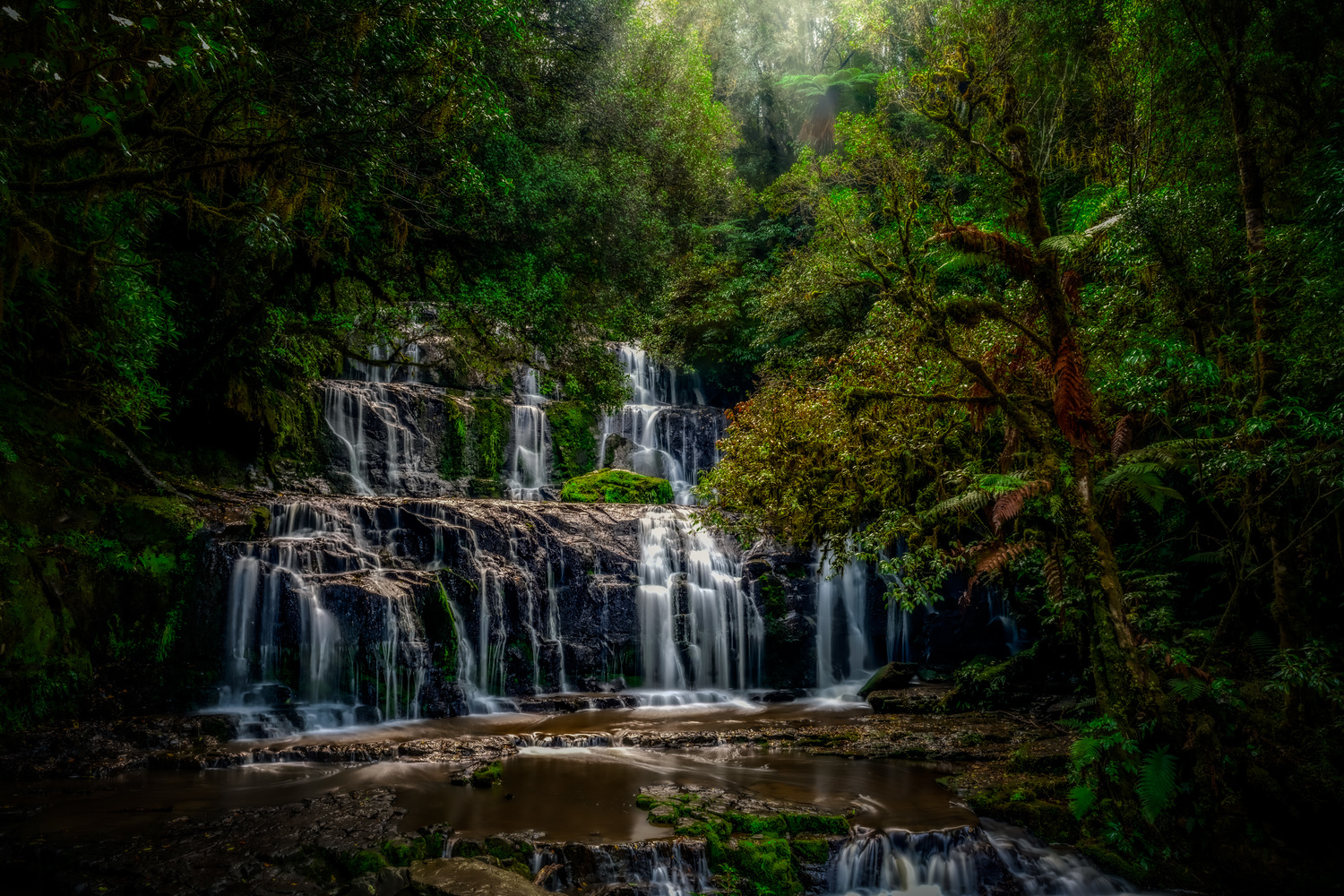 Purakaunui Falls by Alex Hill