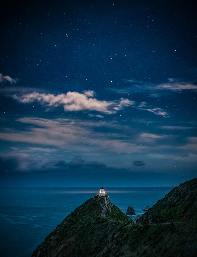 Nugget Point Stars by Alex Hill