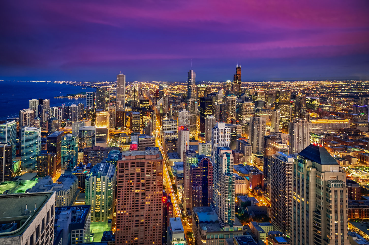 Chicago Twilight by Alex Hill