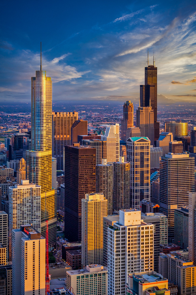 Chicago Sunset by Alex Hill