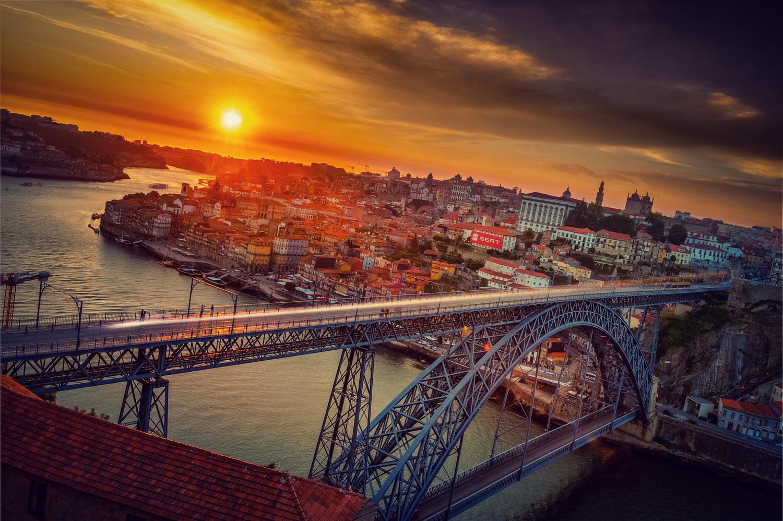 Dom Luís I Bridge Sunset by Alex Hill