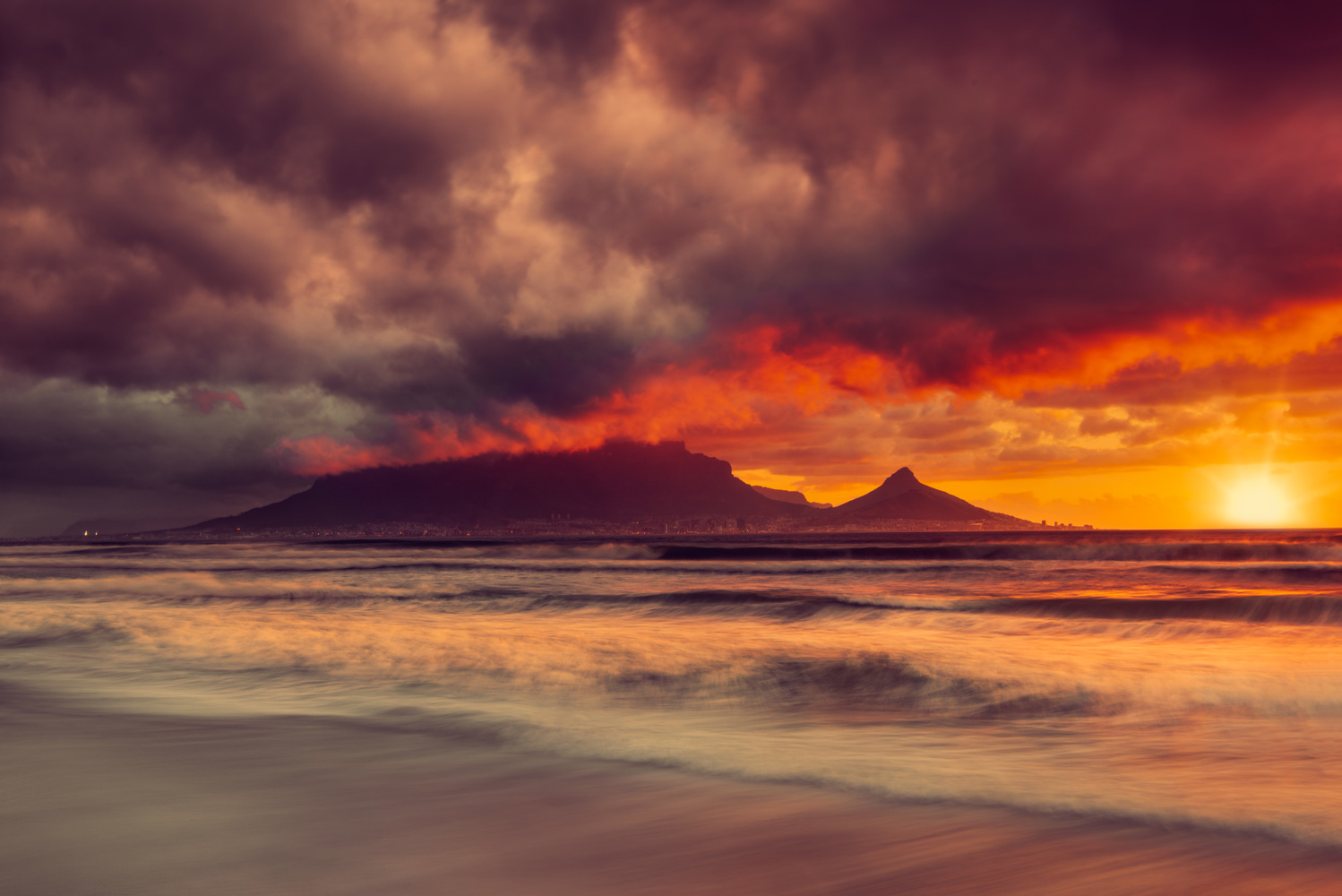 Sunset on Cape Town by Alex Hill
